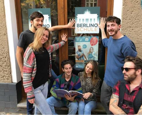 Berlino Schule teacher and students